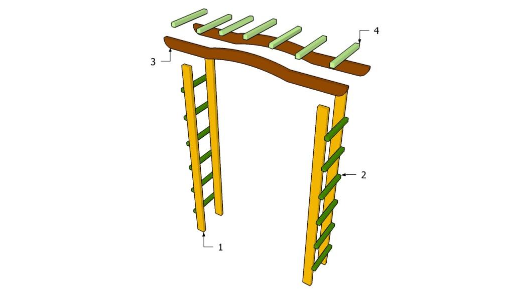 Схема простейшей садовой арки