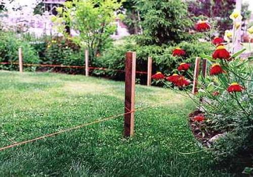 Разметка садовой дорожки