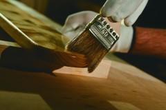 Деревянный брус, обработанный антисептиком