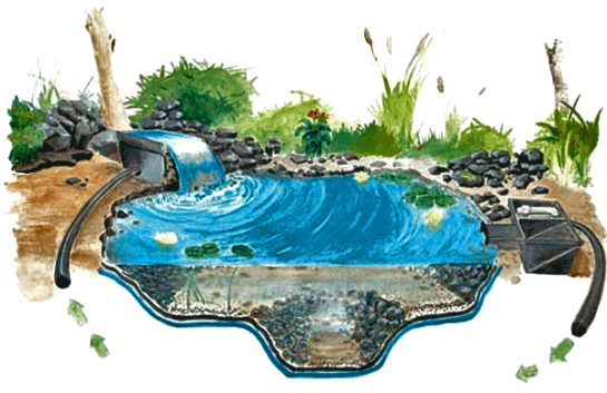 Вариант установки насоса для фонтана