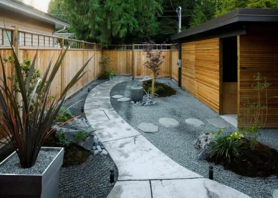 минималистичный японский сад