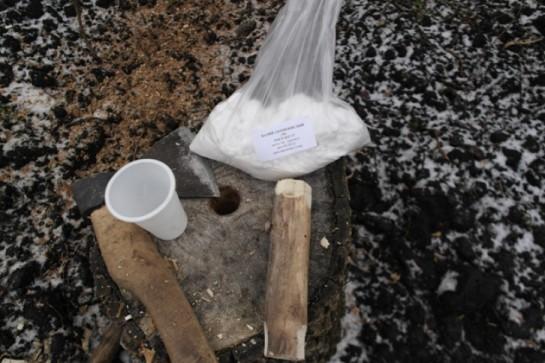 Удаляем пень с использованием поваренной соли