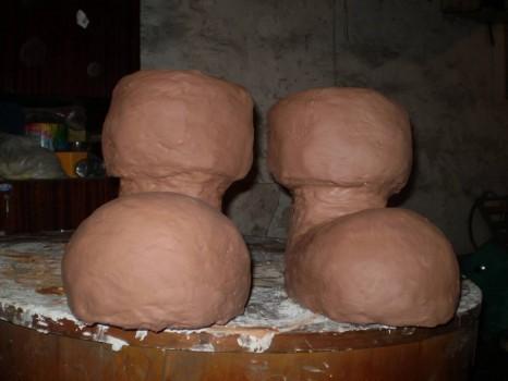 глиняные кашпо