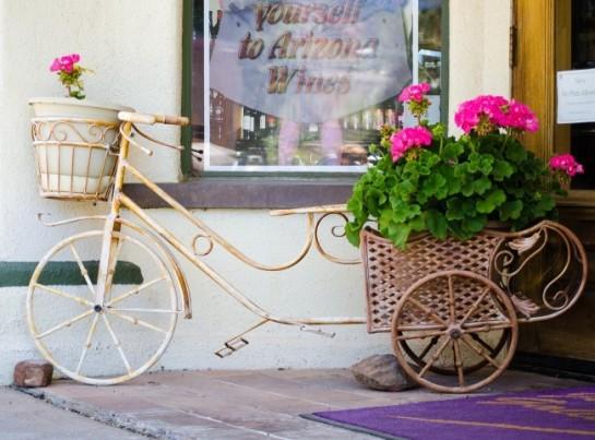 Кашпо из старого велосипеда