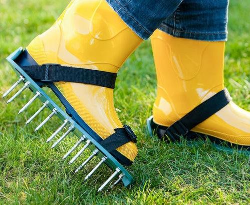 Прокалывание газонной решетки