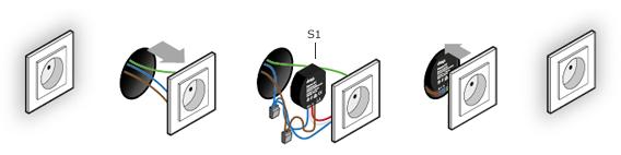 Монтаж дистанционного управления в выключатель
