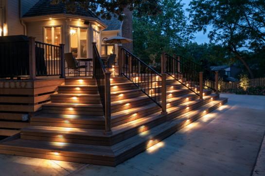 Архитектурное освещение лестницы