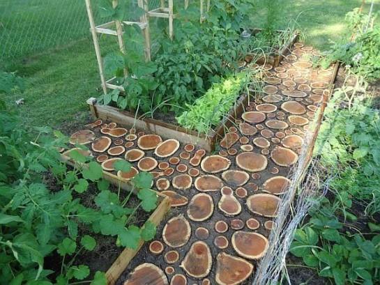 садовые дорожки из спилов дерева своими руками