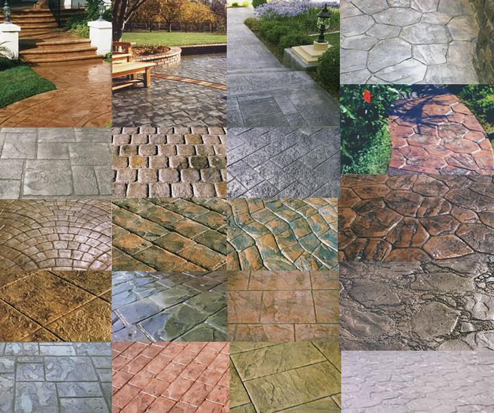 Формы и цвета для бетонных дорожек