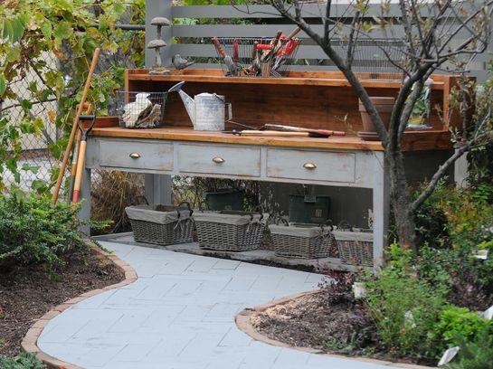 оформление двора в стиле прованс