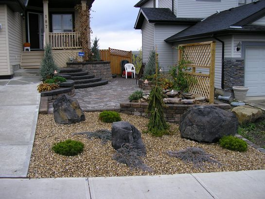 дизайн клумб своими руками с камнями