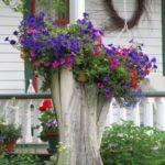 Украшаем пень в саду