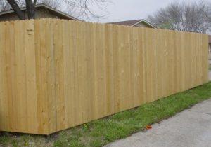 Классический глухой деревянный забор